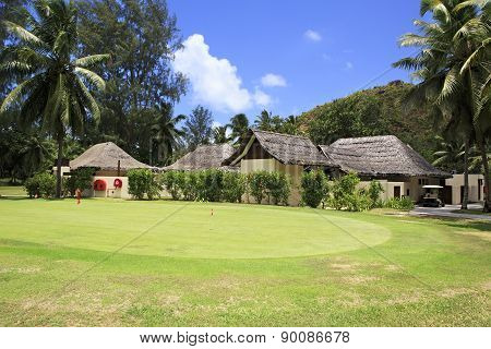 Golf course at the Constance Lemuria Resort.