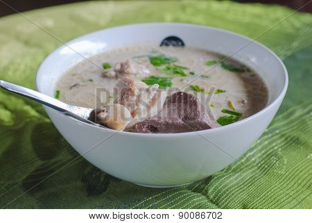 Chicken In Coconut Milk Soup