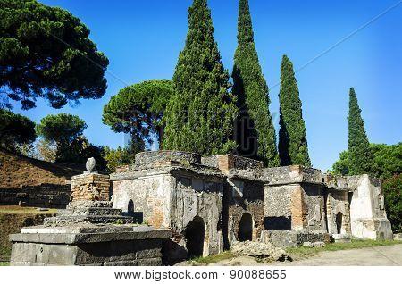 Necropolis In Pompeii