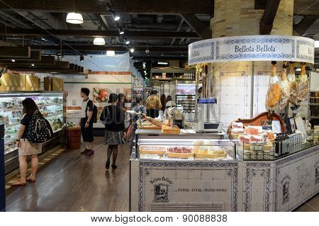 HONG KONG, CHINA - MAY 05, 2015: shopping center interior. In Hong Kong a wide selection of clothing boutiques, designer flagship stores, restaurants, daily shows and exhibitions
