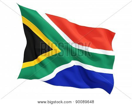 Waving Flag Of South Africa