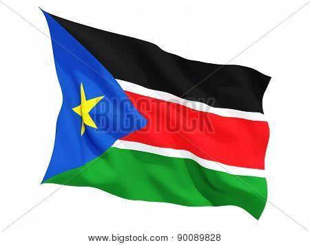 Waving Flag Of South Sudan