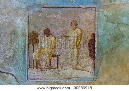 Fresco House In Pompeii