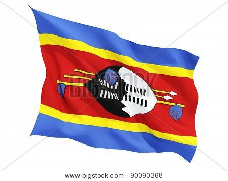 Waving Flag Of Swaziland