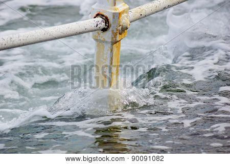 Railing and water 2