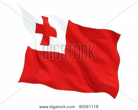 Waving Flag Of Tonga