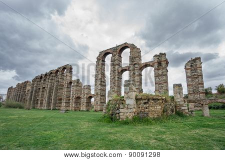 Aqueduct of the Miracles in Merida, Spain, UNESCO