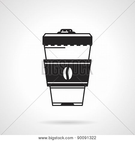 Takeaway coffee black vector icon