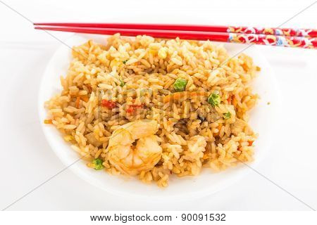 Eating Fried Rice With Chopsticks