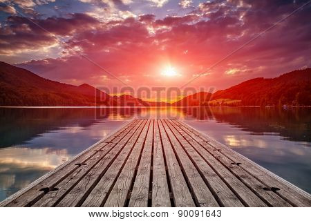 Beautiful Sunset View From A