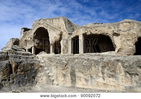 Cave Cluster Ruins In Uplistsikhe's Ancient Town,eastern Georgia,caucasus,central Asia