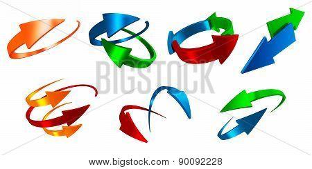 Asset of arrows
