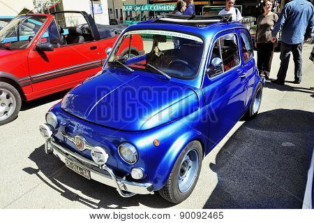 Old Fiat 500 Abarth Racing Equipped