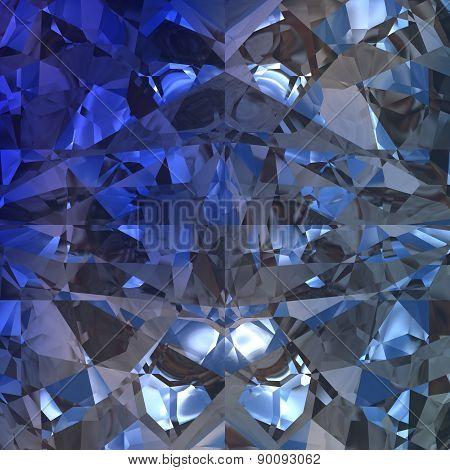Blue Background Of Jewelry Gemstone