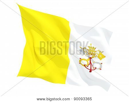 Waving Flag Of Vatican City