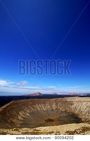 Timanfaya Vulcanic  Rock Stone Sky  Hill And Summer In Los