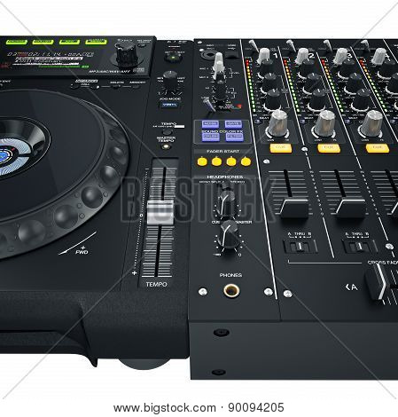 Dj set controls