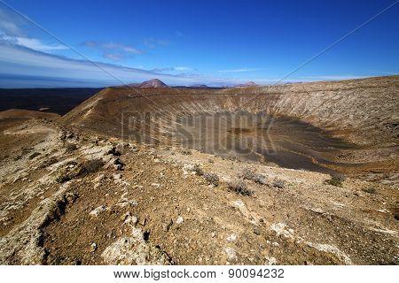 Vulcanic Timanfaya  Rock Stone In Los Volcanes Lanzarote Spain