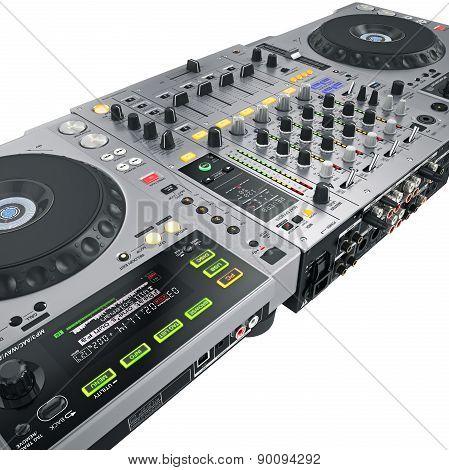 DJ set gray