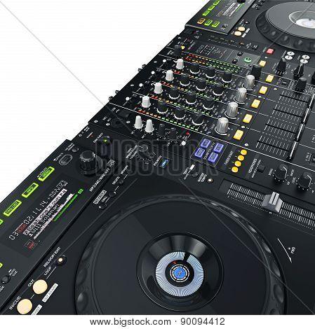 DJ set illuminated