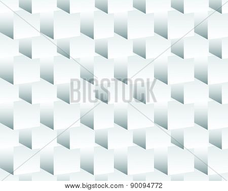 Cubical Pattern. Repeatable Background With 3D Cube Shapes. Grayscale Abstract, Minimal Pattern