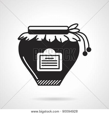 Jam jar black vector icon