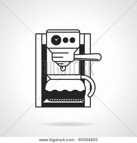 Coffee machine black vector icon