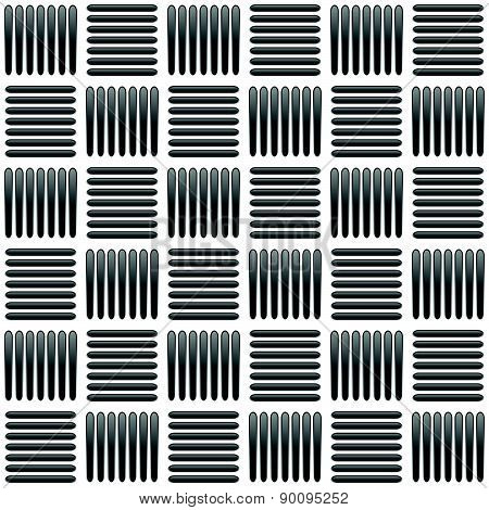 Black And White Alternating Bars Seamlessly Repeatable Pattern. Vector.