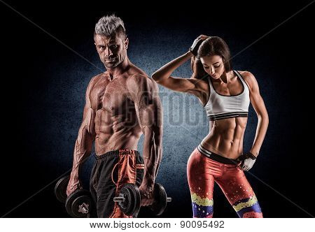 Athletic Couple Poses For The Camera