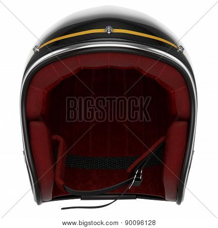 Motorcycle helmet black carbon front