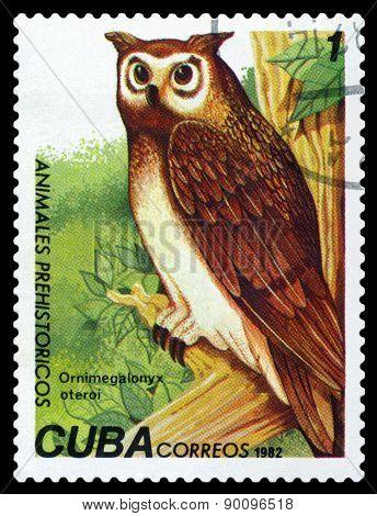 Vintage  Postage Stamp. Ornimegalonyx Oteroi.