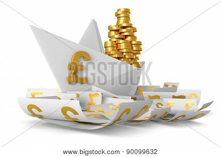 White paper ship GBP