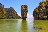 stock photo of james bond island  - Whimsical island in the Andaman Sea - JPG