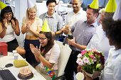 pic of office party  - Celebrating a colleague - JPG