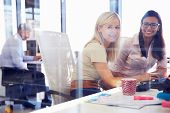 picture of coworkers  - Women office coworkers - JPG