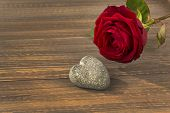 stock photo of wedding feast  - roses as a gift and surprise to a feast - JPG