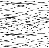 picture of wavy  - Grey vector pattern on white background - JPG