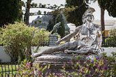 image of sissy  - Famous statue Wounded Achilles in the garden of Achillion palace in Corfu - JPG
