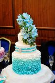pic of three tier  - beautiful turquoise three - JPG