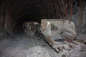 stock photo of mine  - Mine machines in underground mines - JPG