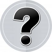 image of interrogation  - Illustration of interrogation sticker icon simple design - JPG