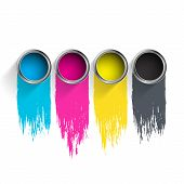 foto of pigment  - Bucket of paint - JPG