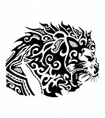 pic of maori  - Hand drawn vector illustration or drawing of a tribal maori lion - JPG