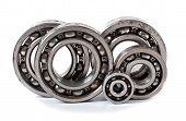 image of bearings  - Bearings on a white background - JPG