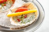 pic of scallops  - scallops on the party table - JPG