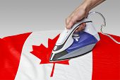 pic of iron star  - Steam iron for smooth out the wrinkles of Flag of Canada - JPG