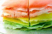 stock photo of crepes  - Rainbow crepe cake - JPG