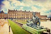foto of versaille  - Royal Garden in the Versailles Castle in vintage style Paris France Unesco - JPG