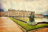 pic of versaille  - Royal Garden in the Versailles Castle in vintage style Paris France Unesco - JPG