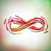 stock photo of infinity symbol  - Vintage colors infinity symbol at sky - JPG